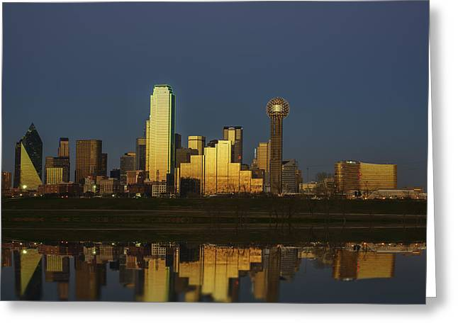 Highway Lights Greeting Cards - Texas Gold Greeting Card by Rick Berk
