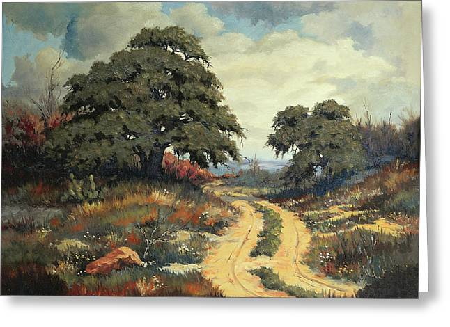 Bob Hallmark Greeting Cards - Texas Hill Country Greeting Card by Bob Hallmark