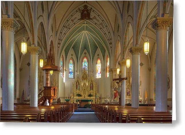Church Photos Greeting Cards - Texas Hill Country Images - St. Marys Cathedral 3 Greeting Card by Rob Greebon