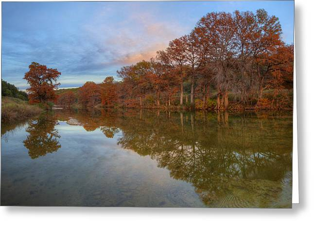 Photos Of Autumn Greeting Cards - Texas Hill Country Images - Pedernales Falls State Park Autumn S Greeting Card by Rob Greebon