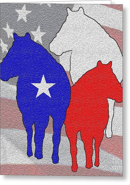 Texas Horse Greeting Cards - Texas Horses Greeting Card by Brian Mollenkopf