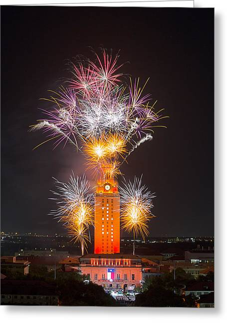 University Of Texas At Austin Greeting Cards - Texas Images - The University of Texas Graduation 2014 3 Greeting Card by Rob Greebon