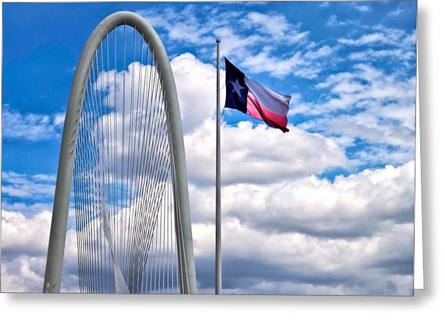 Texas Bridge Greeting Cards - Texas Greeting Card by John Hesley