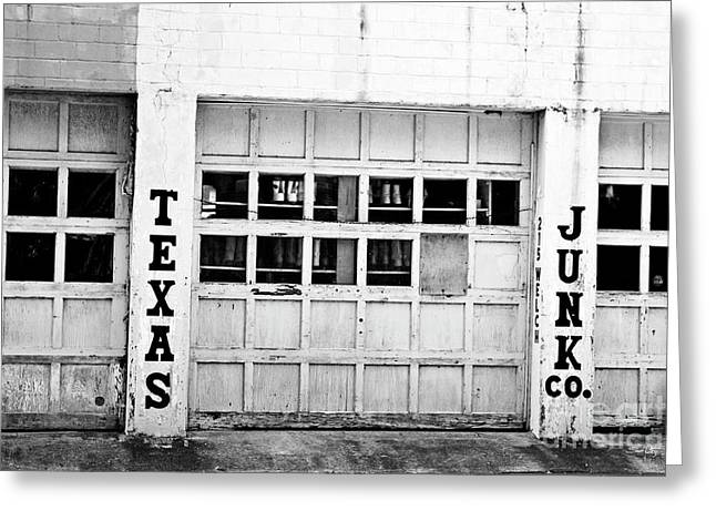 Black Boots Photographs Greeting Cards - Texas Junk Co. Greeting Card by Scott Pellegrin
