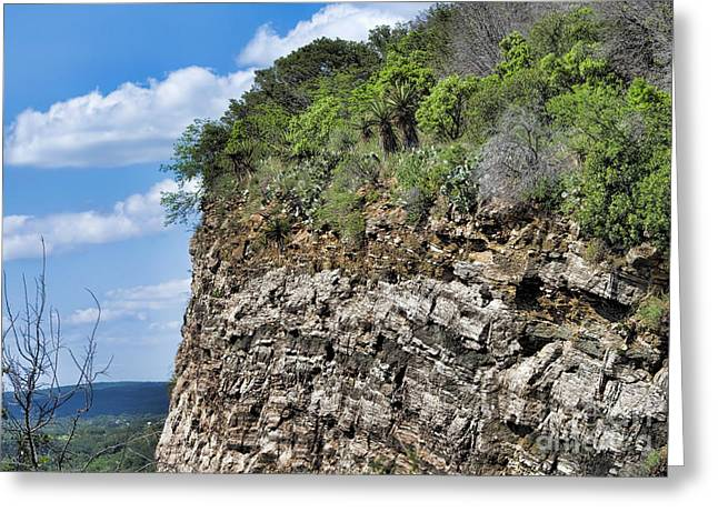 Layer Greeting Cards - Texas - Layered Cliff - Luther Fine Art Greeting Card by Luther Fine Art