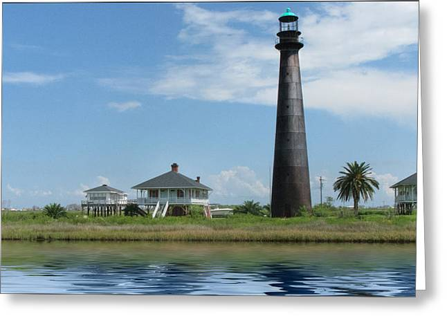 Texas Lighthouse Greeting Card by Cecil Fuselier