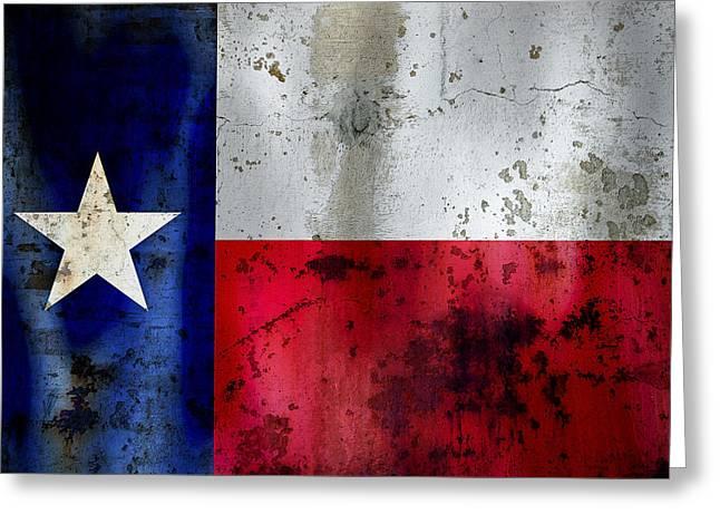 Galveston Digital Art Greeting Cards - Texas Lone Star Flag Greeting Card by Daniel Hagerman