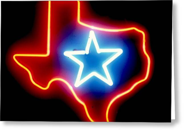 Lone Sculptures Greeting Cards - Texas Lone Star State   Greeting Card by Pacifico Palumbo
