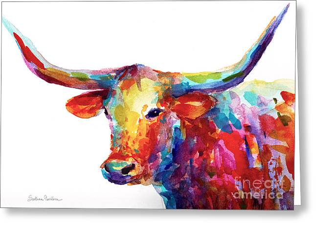 Artist Greeting Cards - Texas Longhorn art Greeting Card by Svetlana Novikova