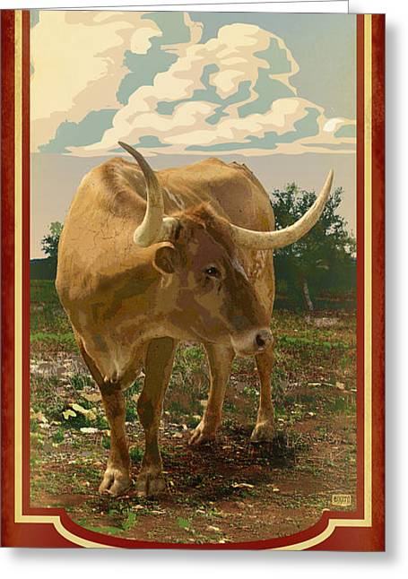 Mascots Greeting Cards - Texas Longhorn Greeting Card by Jim Sanders