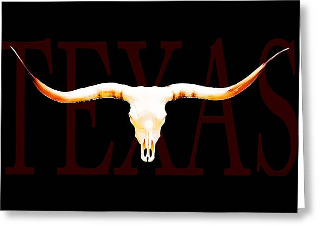 Bulls Mixed Media Greeting Cards - Texas Longhorns By Sharon Cummings Greeting Card by Sharon Cummings
