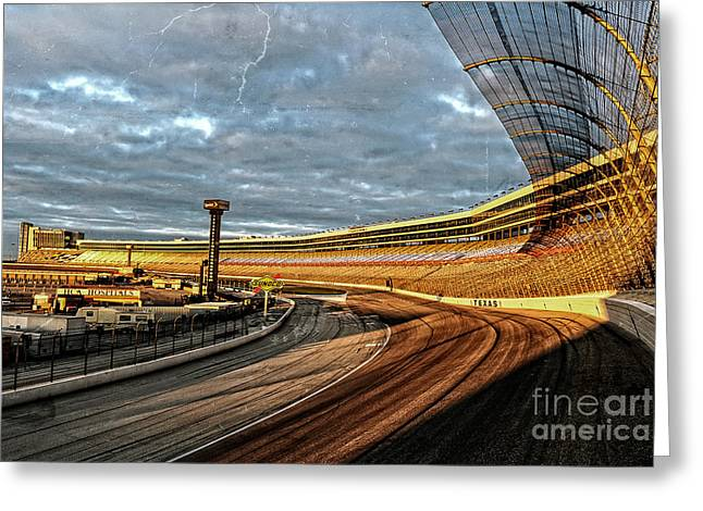 Best Sellers Greeting Cards - Texas Motor Speedway Greeting Card by Charles Dobbs