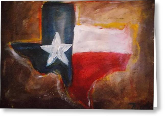 Conservative Paintings Greeting Cards - Texas Greeting Card by Niceliz Howard