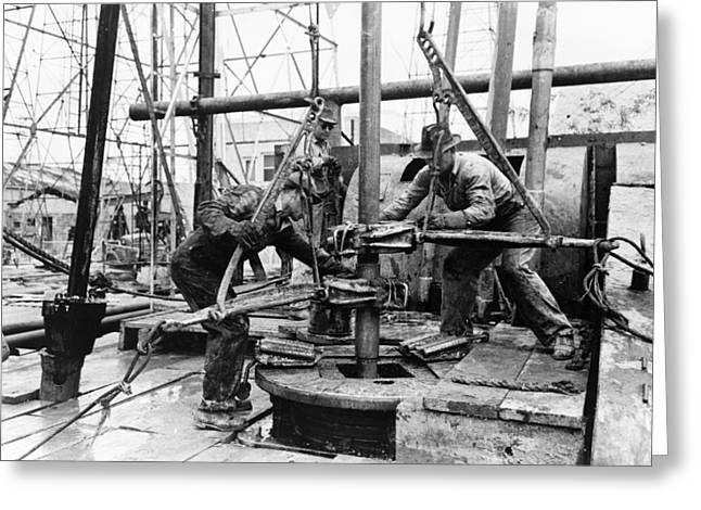 Texas Oil Well, 1939 Greeting Card by Granger