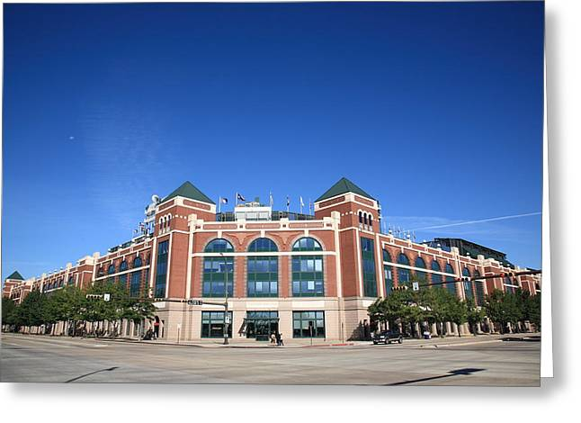 Baseball Art Greeting Cards - Texas Rangers Ballpark in Arlington Greeting Card by Frank Romeo