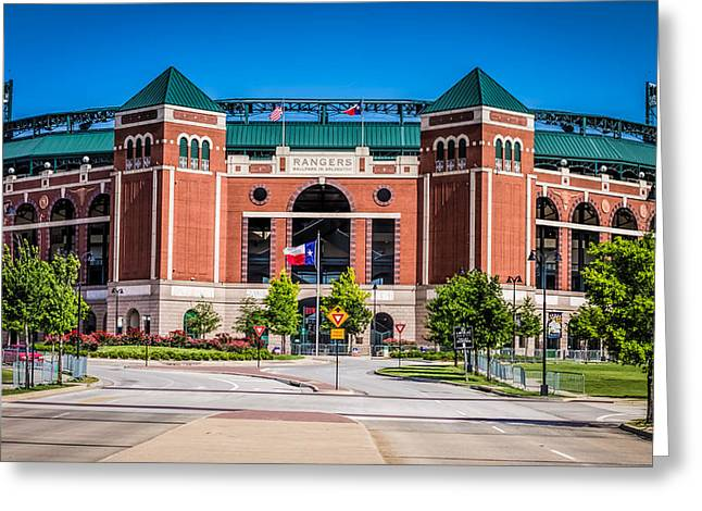 Recently Sold -  - Baseball Art Greeting Cards - Texas Rangers Ballpark in Arlington Greeting Card by Robert Bellomy