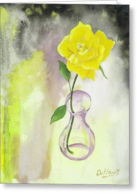 Cushion Greeting Cards - Texas Rose Greeting Card by Michael Dillon