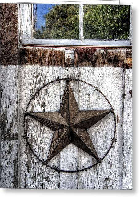 Dude Ranch Greeting Cards - Texas Star Greeting Card by Daniel Hagerman