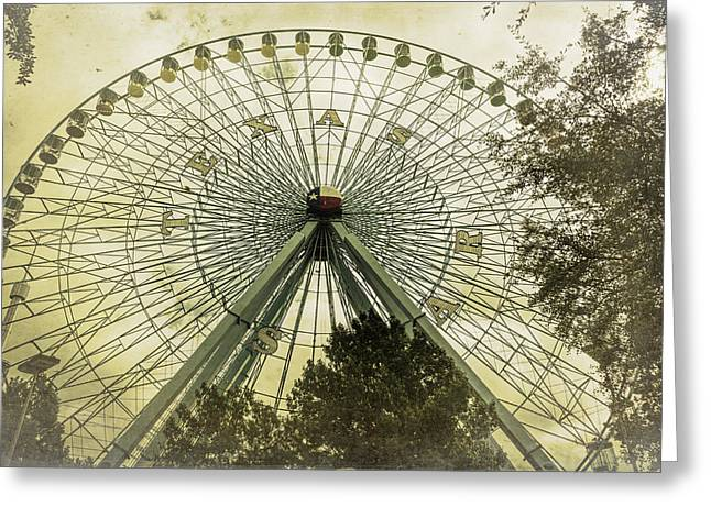 Theme Park Greeting Cards - Texas Star Old Fashioned Fun Greeting Card by Joan Carroll