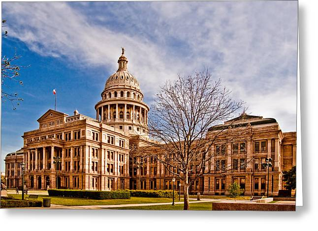 Austin Powers Greeting Cards - Texas State Capitol Greeting Card by David and Carol Kelly