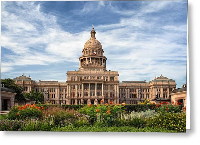 Austin Landmarks Greeting Cards - Texas State Capitol II Greeting Card by Joan Carroll
