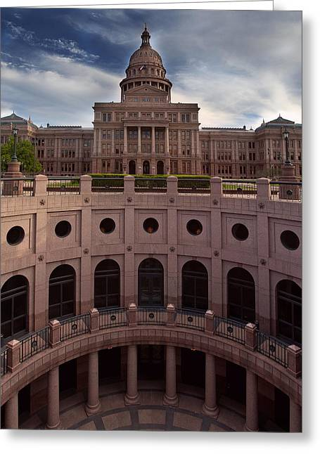 Austin Architecture Greeting Cards - Texas State Capitol Greeting Card by Paul Huchton