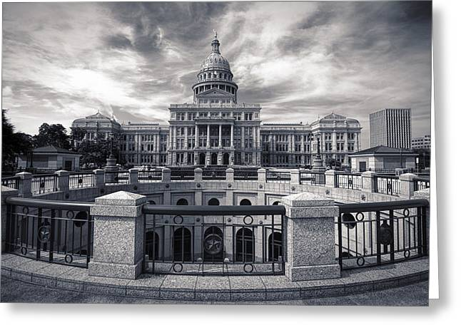 Flag Stone Greeting Cards - Texas State Capitol V Greeting Card by Joan Carroll