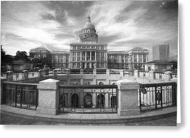 Flag Stone Greeting Cards - Texas State Capitol VI Greeting Card by Joan Carroll