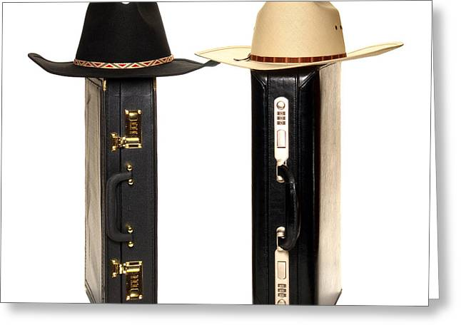 Cowboy Hat Photographs Greeting Cards - Texas Style Business Greeting Card by Olivier Le Queinec
