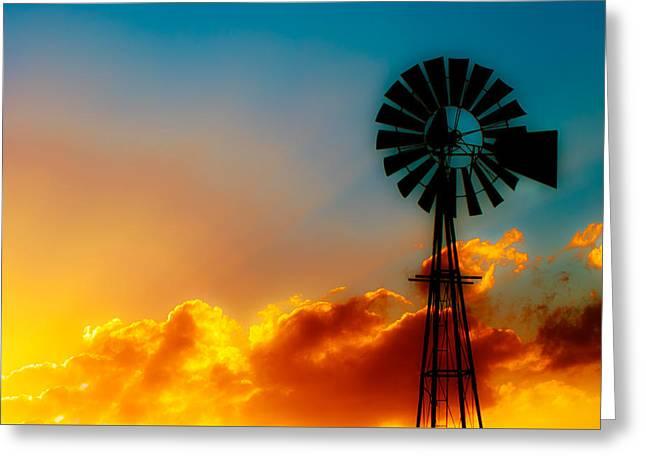 Texas Sunrise Greeting Card by Darryl Dalton