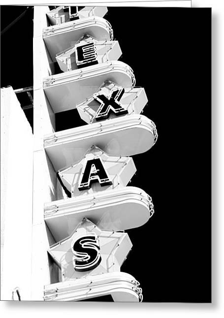 Texas Theater Greeting Card by Darryl Dalton
