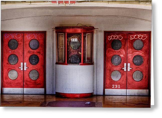 Ticket Booth Greeting Cards - Texas Theater Greeting Card by David and Carol Kelly