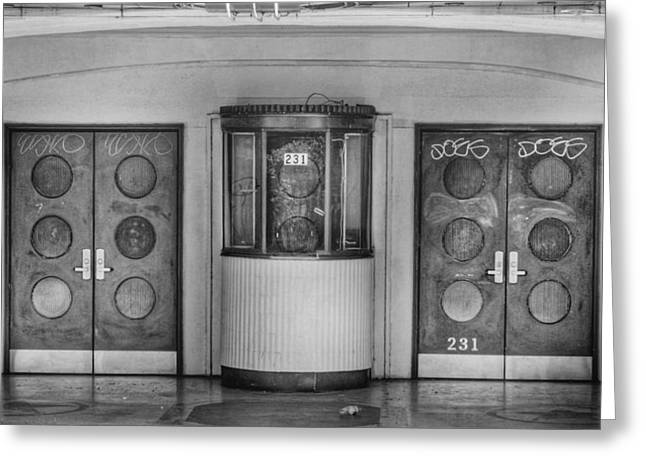 Ticket Booth Greeting Cards - Texas Theater Ticket Booth Greeting Card by David and Carol Kelly