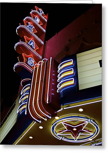 Cliff Lee Greeting Cards - Texas Theatre Marquee Greeting Card by John Babis