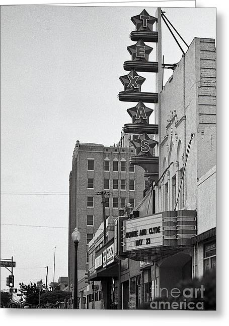 Cliff Lee Greeting Cards - Texas Theatre Greeting Card by Sonja Quintero