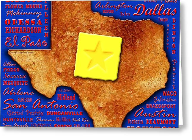 Toast Greeting Cards - Texas Toast Greeting Card by Cristophers Dream Artistry