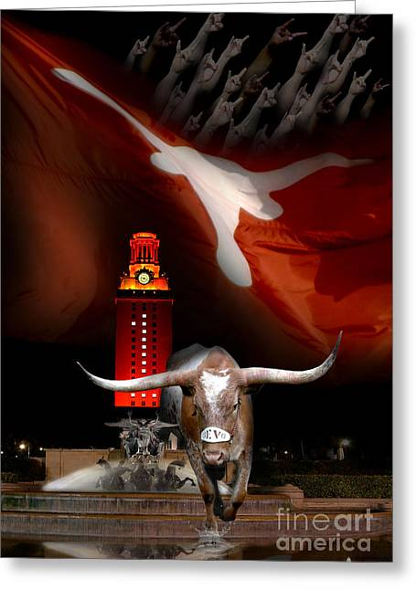 The 1% Greeting Cards - Texas-Victory Greeting Card by Randy Smith