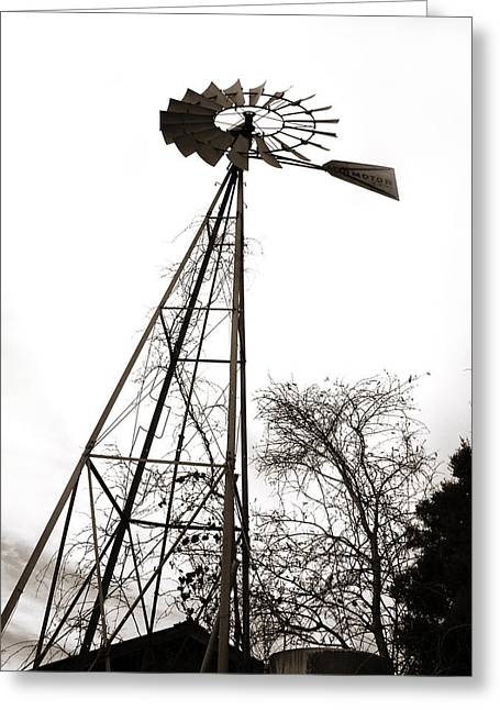 Aermotor Greeting Cards - Texas Windmill 2 Greeting Card by Marilyn Hunt