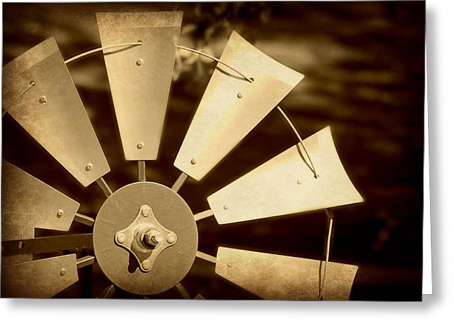 Toto Greeting Cards - Texas Windmill Greeting Card by Elizabeth Budd
