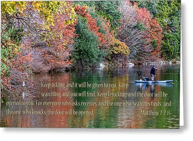Bull Creek Greeting Cards - Texas Winter Colors Mat. 7v7-8 Greeting Card by Linda Phelps