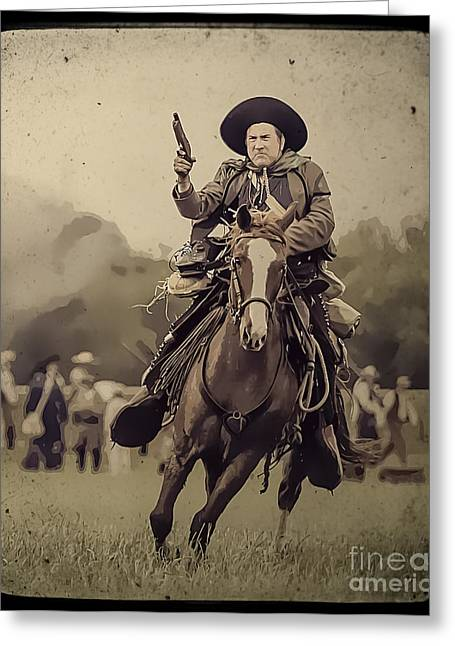 Kim Henderson Greeting Cards - Texican Cavalry Greeting Card by Kim Henderson