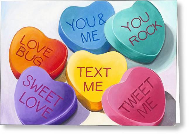 Carla Bank Greeting Cards - Text me Tweet me Greeting Card by Carla Bank
