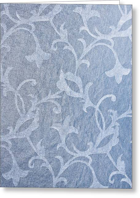Mottled Greeting Cards - Textile background Greeting Card by Tom Gowanlock