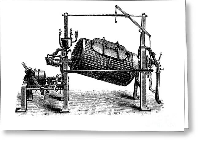 Washing Machine Greeting Cards - Textile Finishing Machine, 1880s Greeting Card by Bildagentur-online