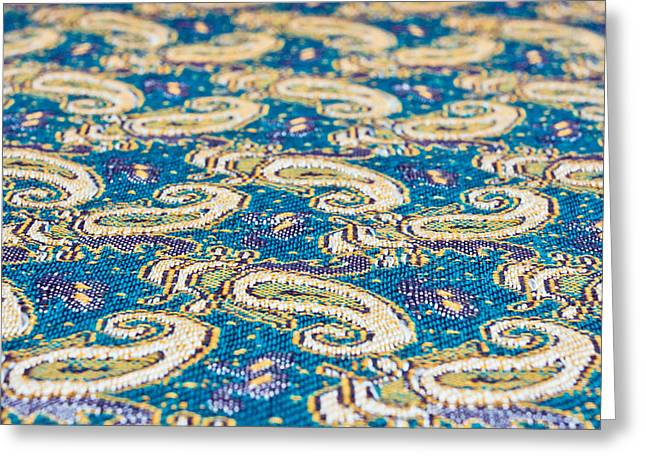 Textile pattern Greeting Card by Tom Gowanlock