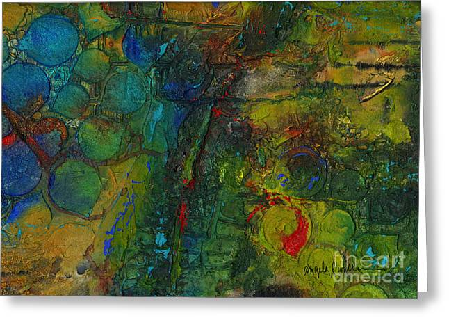 Survivor Art Greeting Cards - Textural Fortitude Greeting Card by Angela L Walker