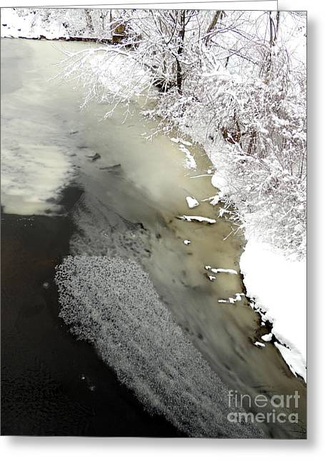 Marcia Lee Jones Greeting Cards - Textural Ice Greeting Card by Marcia Lee Jones