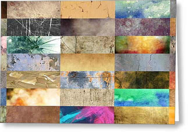 Print Greeting Cards - Texture Collage Greeting Card by Taylan Soyturk