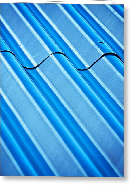 Texture Roof With Corrugated Steel Greeting Card by Jozef Jankola