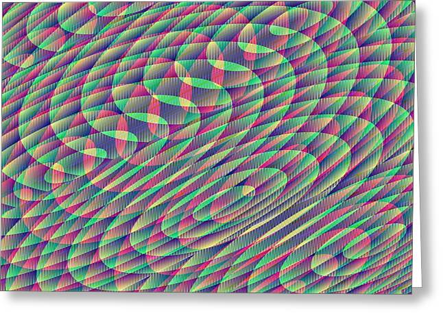 Algorithmic Greeting Cards - Textured Complexity Greeting Card by Joel Kahn
